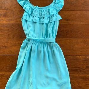 Amanda Uprichard petite blue silk dress